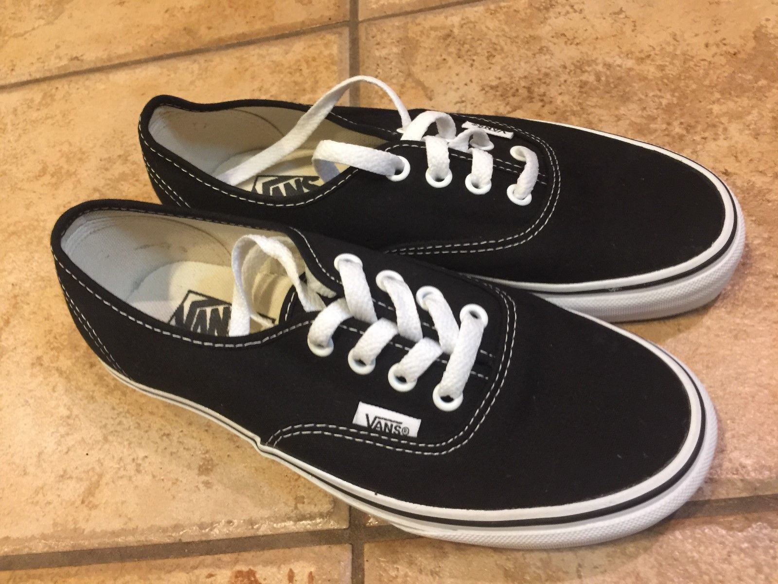 0c7f3aac3e79 Vans Authentic Era Black Canvas White and 50 similar items