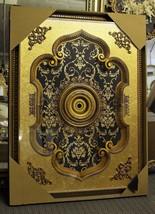 "Gold & Brown Rectangular Ceiling Medallion 48"" x  64"" - $759.05"