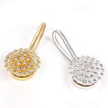 1pc Crystal Flower Magnetic Retractable Window Curtain Clips - $10.99