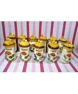 FaB Vintage MoD Sears & Roebuck Merry Mushroom 11pc Spice Shaker Jar Set... - $44.00