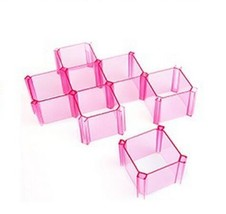 6pcs/set honeycomb box drawer lattice organizer storage holder multifunc... - $25.27 CAD