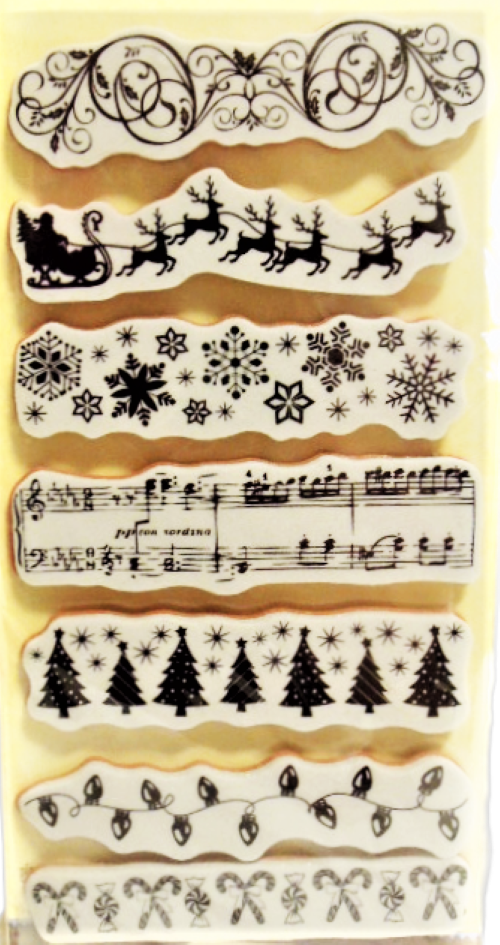 Recollections Christmas Borders Stamp Set, 7 Pieces #239804