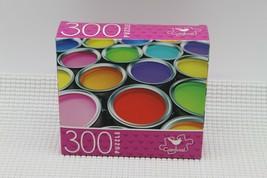 NEW 300 Piece Jigsaw Puzzle Cardinal Sealed 14 x 11, Paint Cans/Pots de ... - $4.45