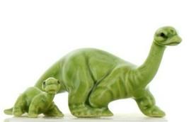 Hagen Renaker Miniature Dinosaur Diplodocus Mama and Baby Ceramic Figurine image 1