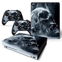 Xbox One X Skin Console & 2 Controllers Skull Decal Vinyl Wrap - $14.82