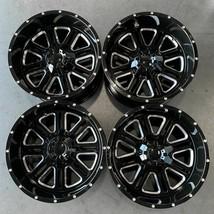 Used 22x14 D6 fit Ford F250 F350 8x170 -76 Black Milled Wheels set(4) - $1,049.00