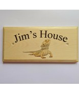 Personalised Bearded Dragon Sign, Enclosure House Name Lizard Home Gift ... - $13.06