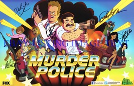 Murder Police Cast Signed Autograph 7X10 Rp Photo Sasso Machado + Great Comedy - $18.99