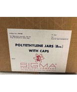 Polyethylene Jars 8 oz with Caps *BOX OF 12* Sigma Chemical Company P-9142 - $48.38