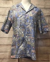 Royal Creations Men's Hawaiian Shirt Medium Button Front Short Sleeve - $11.06