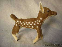 Vintage Inspired Spun Cotton Reindeer Fawn for Christmas Decorations image 3