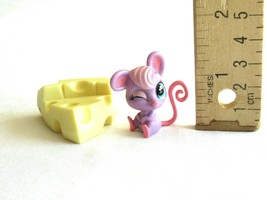 Littlest Pet Shop LPS #3817 Teensie Fromage Mouse Rat Rodent Big Cheese ... - $8.54