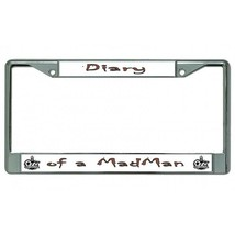 diary of a madman ozzy osbourne logo chrome license plate frame made in usa - $27.07