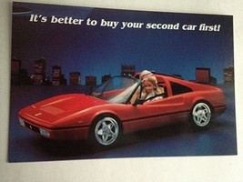 Barbie VTG Postcard Barbie Doll Collector Christmas Gift Ferrari Z43 - $11.63