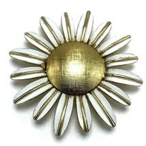 Vintage Avon Brocade Daisy Flower Pin Brooch Brocade - $19.95