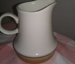 Japan Vintage Hand Decorated Stoneware WaterColors Hearthside Creamer  - $8.91