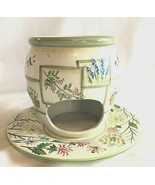 Yankee Candle Large With Plate Oil Tart Burner Spring Flowers Bees Dragonflies - $24.70