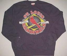 St. Louis Cardinals Baseball MLB NL Mitchell & Ness Navy Blue Sweatshirt XL - $31.67