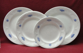 FOUR (4) ADDERLEY China - BLUE CHELSEA Pattern - Different size PLATES - $36.21
