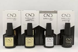 CND Shellac Base & Top Coat - Original. Dura Force, Xpress 5 Large Size ... - $67.99