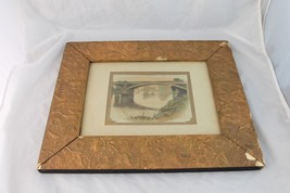 Antique Picture Frame Gesso Aesthetic Movement Gold Painting 1880 - $2.423,85 MXN