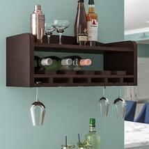 6 Bottle Wall Mounted Wood Wine Rack Bottles Holder Storage Drinks Shelf... - $2.388,10 MXN