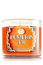 Bath & Body Works Candle 3 Wick 14.5 Ounce Pumpkin Pie - $35.00