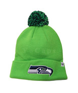 NFL Seattle Seahawks Beanie Cuffed Knit Cap with Pom Green - $19.79