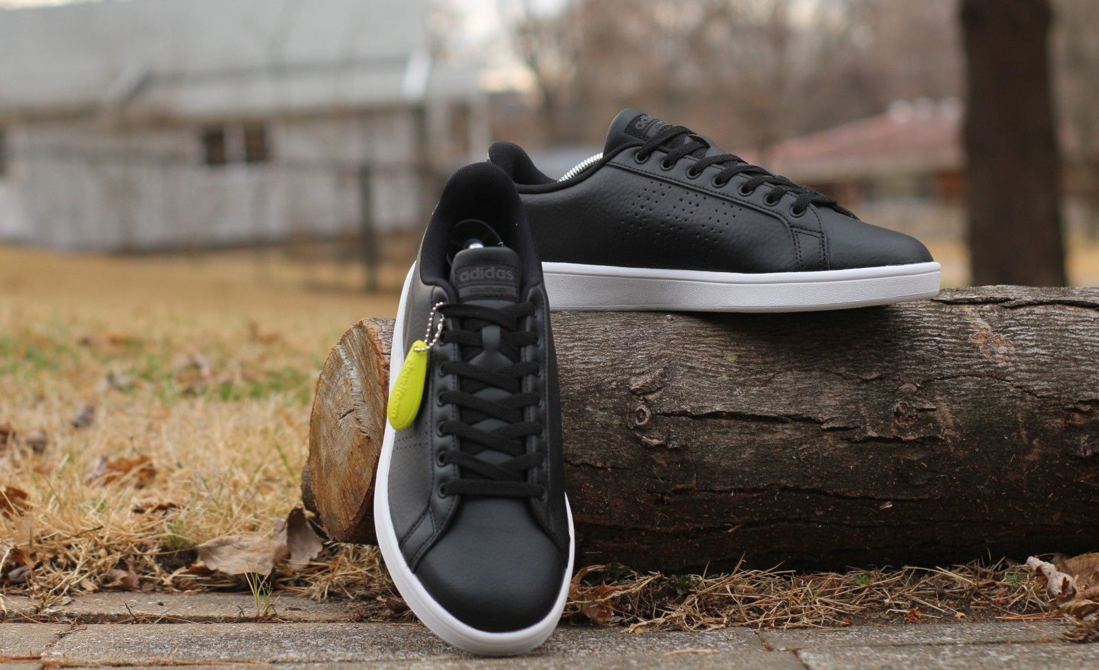 sneakers for cheap b63cc d1b4e Adidas Neo Mens Cloudfoam Advantage Clean Fashion Sneaker AW3915 Black