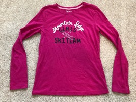 Girl Gap kids Long Sleeves Shirt Ski Team Pink Mountain Lodge Sz XXL - $9.49