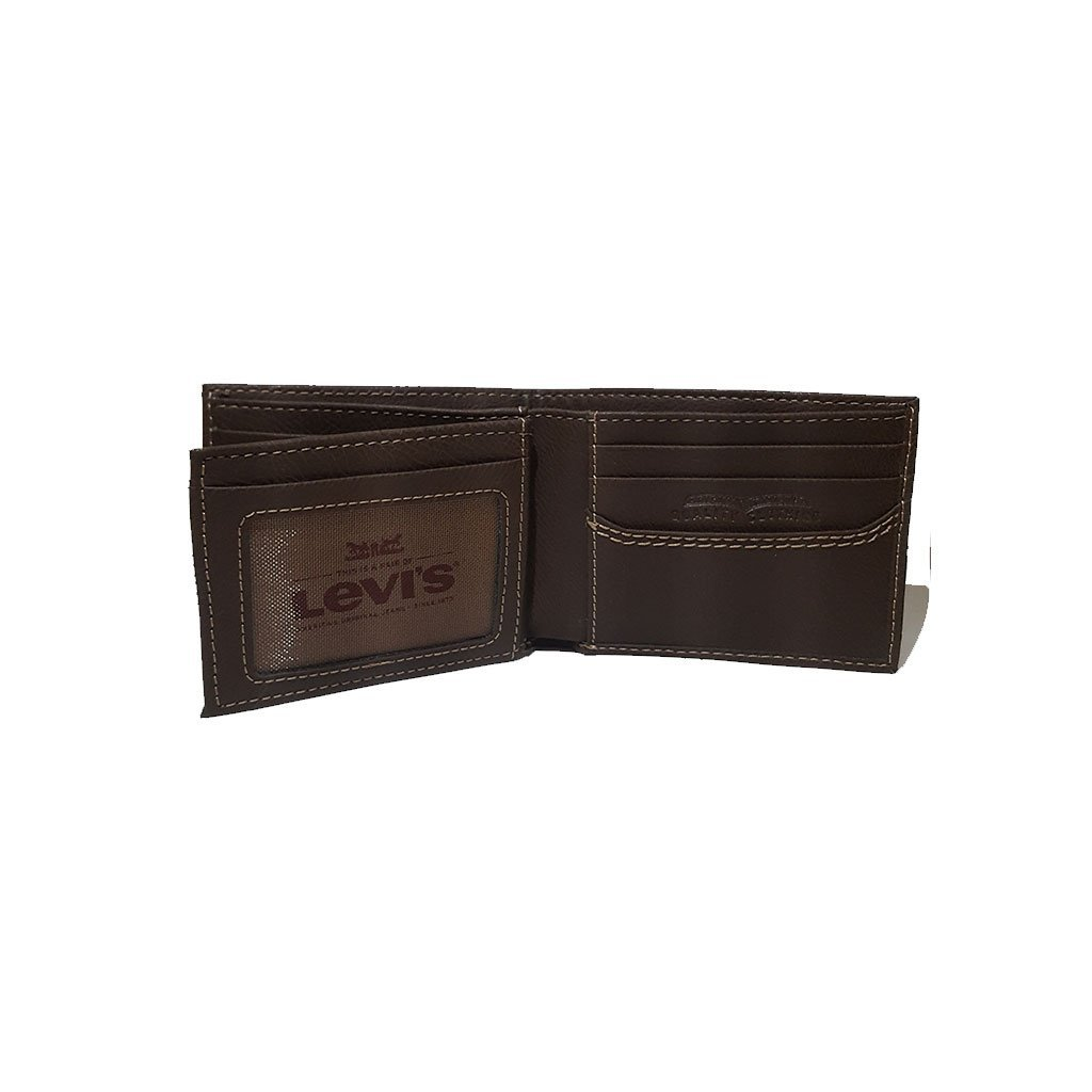 Levi's® 31LV1344 men's extra capacity slimfold wallet brown one size image 4