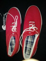 Mens OP Red Canvas Casual Lace Up Shoes - $14.36
