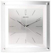 Seiko Wall Clock Quiet Sweep Second Hand Clock Silver-Tone Metallic Case - $56.06