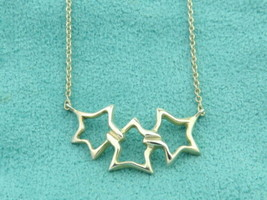 Authentic TIFFANY & CO Sterling Silver Triple Star Pendant Necklace - $116.07