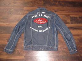 Men's Diesel Industry Denim Jacket Size L Hard Labor EXCELLENT Love Work... - $142.49