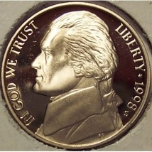 1998-S DCAM PROOF Jefferson Nickel #0624 - $2.39