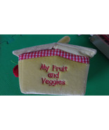 Aurora Baby My First Veggie Basket 2 Veggies With Sounds Plush Carrier Used - $11.39