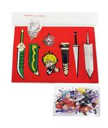 7 Pcs Anime The Seven Deadly Sins Sword Badge Necklace Meliodas LostVayne Icon - $16.63
