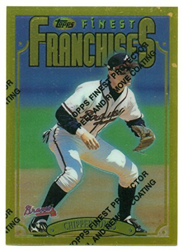 1996 Finest Gold Chipper Jones Franchises #192 Rare - Atlanta Braves - Baseball