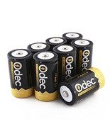 Odec D Cell Rechargeable Batteries, 8-Pack 10000mAh Deep Cycle NiMH Battery - $37.17