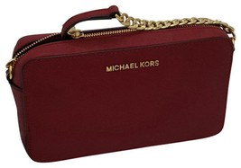 MICHAEL KORS JET SET MEDIUM CHERRY CROSSBODY BAG - $128.69