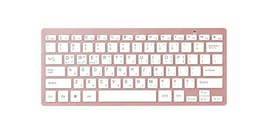 Actto Korean English Bluetooth Slim Keyboard Wireless Compact Tenkeyless (Pink)