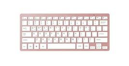 Actto Korean English Bluetooth Slim Keyboard Wireless Compact Tenkeyless (Pink) image 1