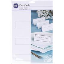 Place Cards 60/Pkg-White W/Silver Border - $4.99
