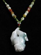 Elegant 4 Beaded Silk Strands Carved Jadeite Jade Big Bauhinia Flower Bracelet