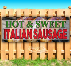 HOT & SWEET SAUSAGE Advertising Vinyl Banner Flag Sign Many Sizes FAIR FOOD - $11.39+