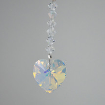 14mm Crystal Heart Hair Jewel image 1