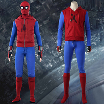 Spider-Man Homecoming Peter Parker Hoodie Zipper Jacket Cosplay Costume - £92.06 GBP+