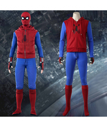 Spider-Man Homecoming Peter Parker Hoodie Zipper Jacket Cosplay Costume - £103.77 GBP