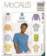 8746 UNCUT Vintage McCalls Pattern Misses Semi Fitted Top Shirt SEWING OOP FF - $4.54